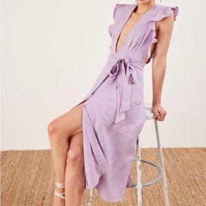 Reformation • Serengeti Linen Lilac Dress